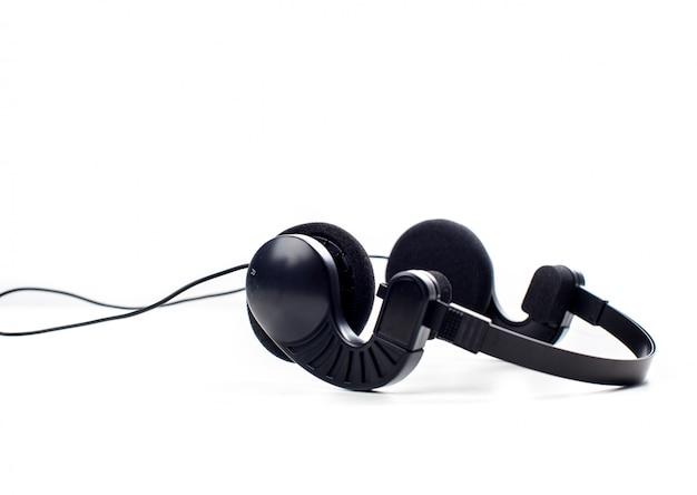 Hoofdtelefoon. geïsoleerd op witte achtergrond