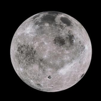 Hoogst gedetailleerde maan in melkweg