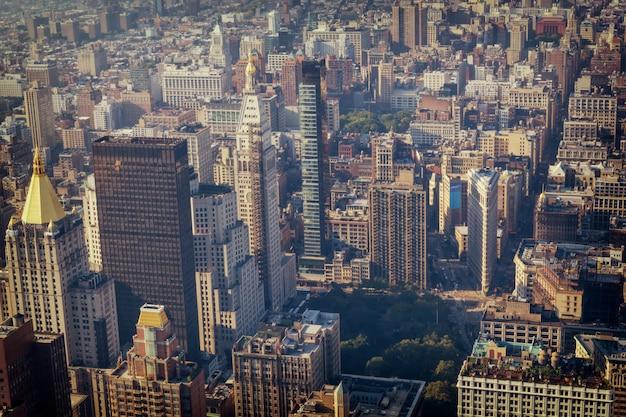 Hoogste de gebouwen hoogste mening van manhattan, gestemd beeld