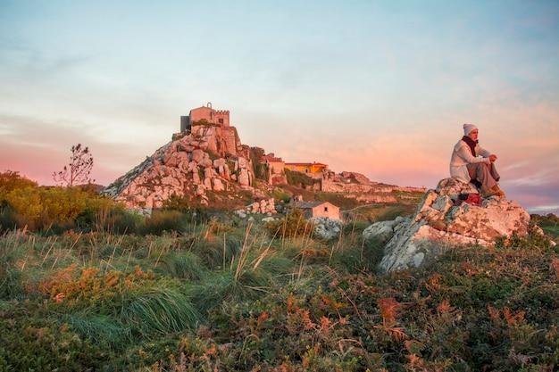 Hoogste gezichtspunt van sintra-regio, santuario da peninha, portugal.