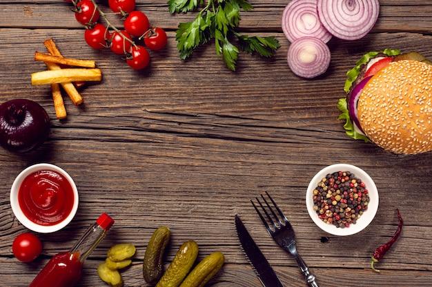 Hoogste mening de regeling van de hamburgeringrediënten
