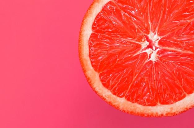 Hoogste mening van een één achtergrond van de grapefruitplak