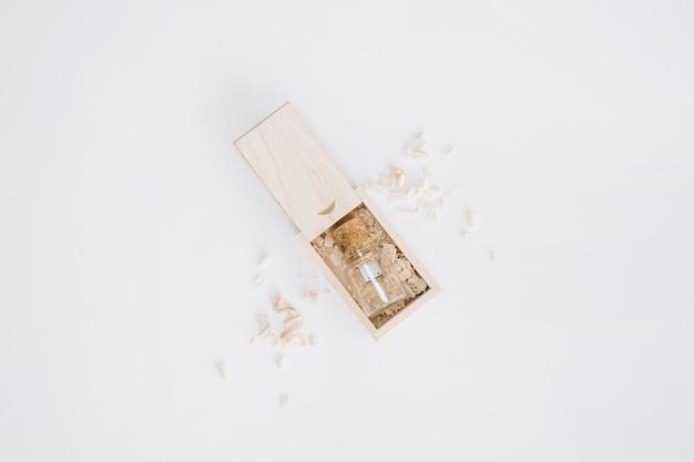 Hoogste mening van houten doos