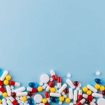 Hoogste mening van kleurrijke pillen