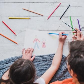 Hoogste mening van vader het schilderen met dochter op vadersdag