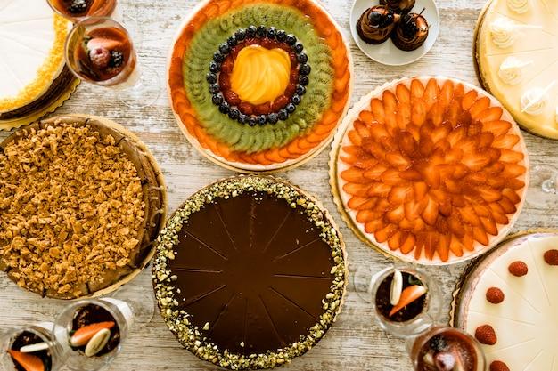Hoogste mening van verschillende cakes