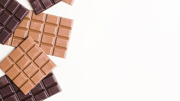 Hoogste meningsvoedselkader met donkere chocolade