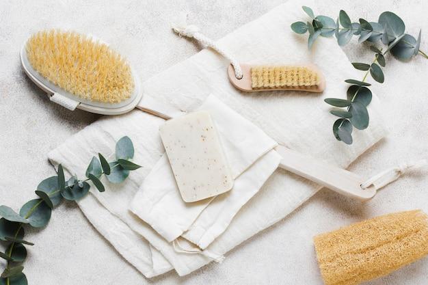 Hoogwaardige natuurlijke haarborstel en spons