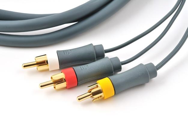 Hoogwaardige rgb-coaxkabel, tv, video-audiokabel. composiet