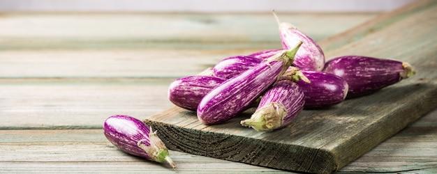 Hoop kleine aubergine of aubergine