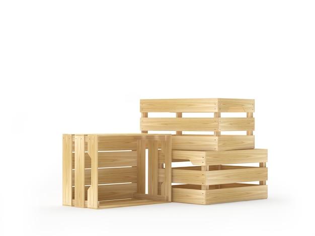 Hoop lege houten kisten
