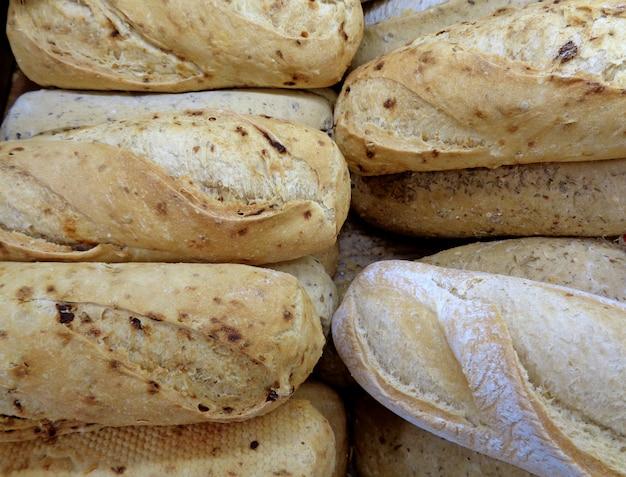 Hoop van baguettes, gesloten voor textuur, achtergrond