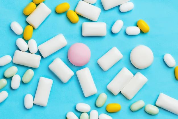 Hoop van munt verschillende kauwgom