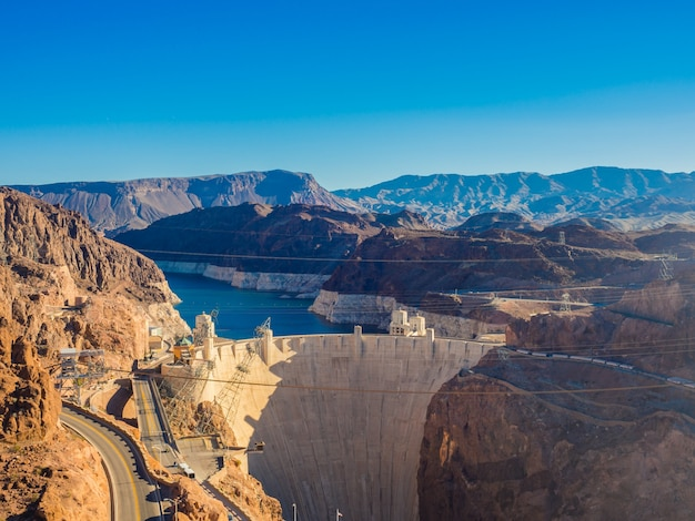 Hoover dam in nevada, usa.