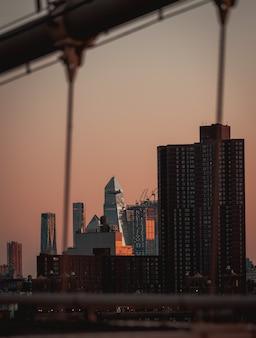 Horizon wolkenkrabbers gebouwen lucht kleur oranje