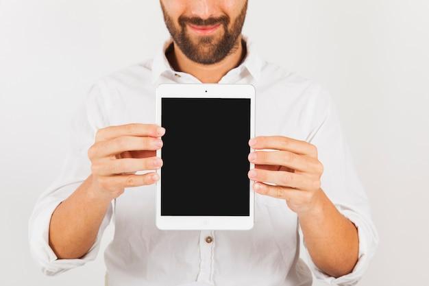 Horizontaal tablet scherm