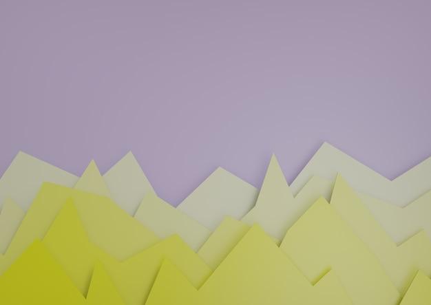 Horizontale 3d render van enkele kleurrijke grafieken voor vergelijking