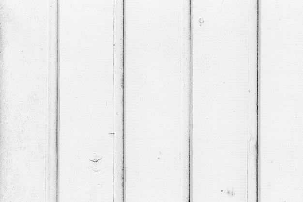 Horizontale achtergrond van rustieke en oude stroken wit hout
