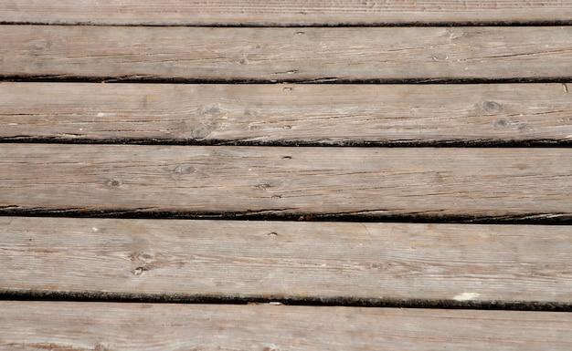 Horizontale foto van versleten houten