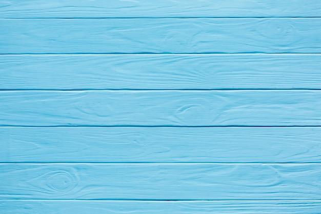 Horizontale houten strepen blauw geverfd