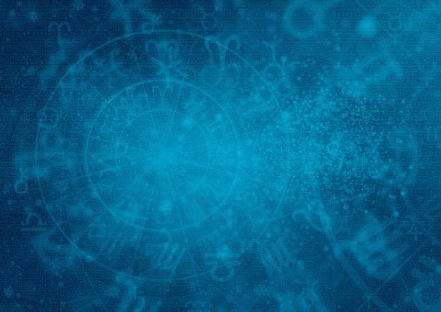 Horoscoop astoloog achtergrondpatroonbehang