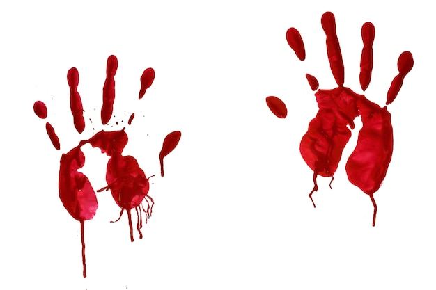 Horror bloedige handafdruk