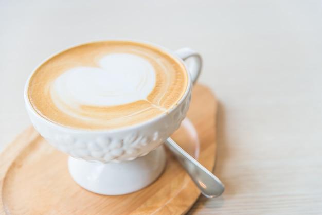Hot latte koffiekopje