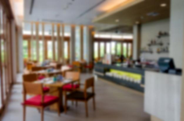 Hotel restaurant vervagen