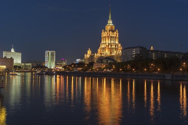 Hotel ukraina in taras shevchenko embenkment in moskou, rusland