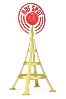 Hotspot-netwerk. digitaal gegenereerde afbeelding