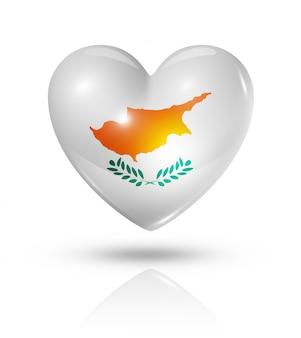Hou van cyprus hart vlag pictogram