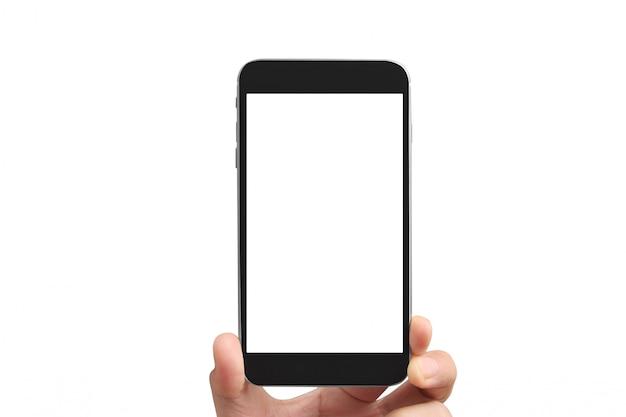 Houd mobiele telefoons, smartphoneapparaten en touchscreen-technologie vast
