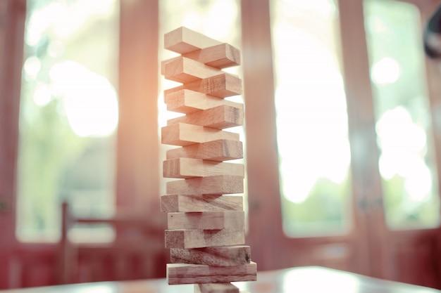 Houtblokken bouwen, plan en strategie