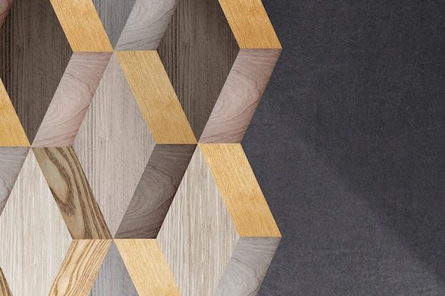 Houten 3d modern ontwerp als achtergrond