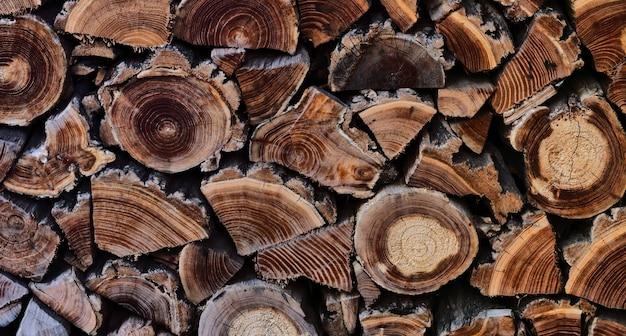 Houten abstracte achtergrond. textuur van houten planken met oude ringen.