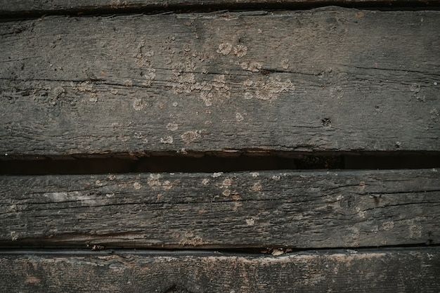 Houten achtergrond oud hout met schimmel