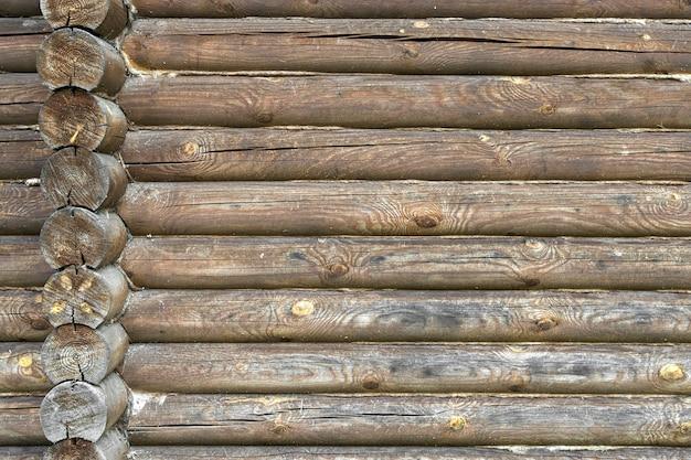 Houten achtergrond oude houten muur van een rustiek huis met textuur van hoge kwaliteit foto