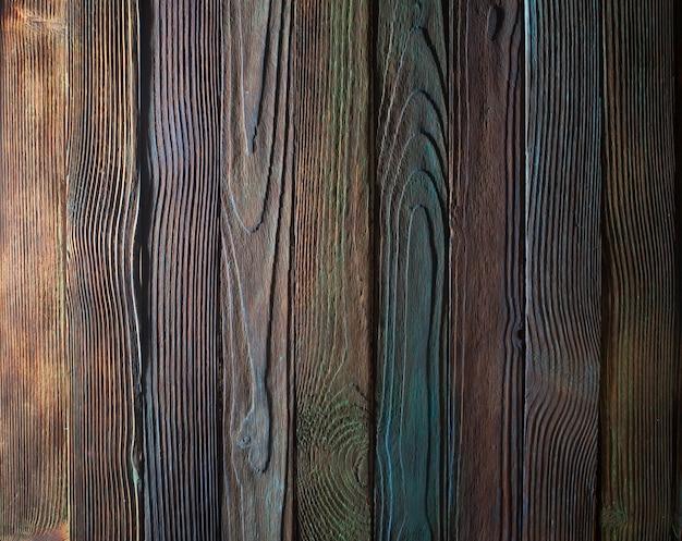Houten achtergrond planken, geschilderd in verschillende kleuren