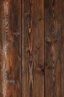 Houten achtergrond, verticale gestreepte houten bureau, oude tafel of vloer