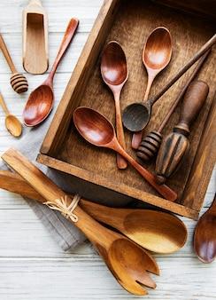 Houten bestek keukengerei