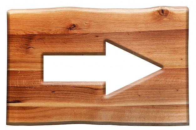 Houten bord met een pijl