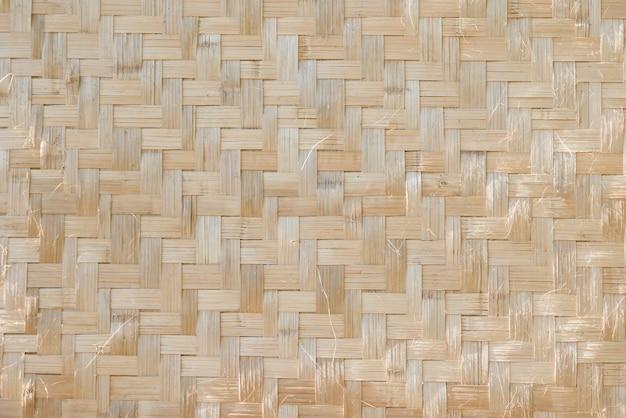 Houten de textuur abstracte achtergrond van de bamboemat