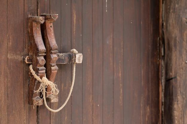 Houten deur handvat vintage decoratie huis