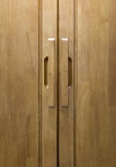 Houten deur handvat