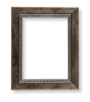 Houten frame geïsoleerd op wit