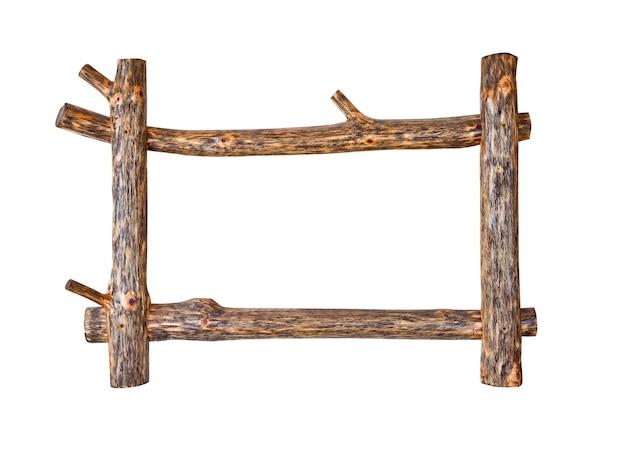 Houten frame op wit