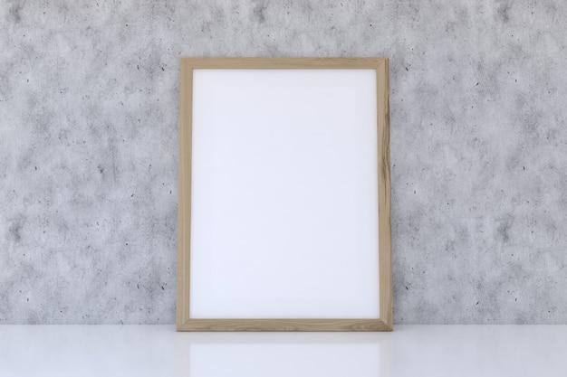 Houten framemodel met betontextuur