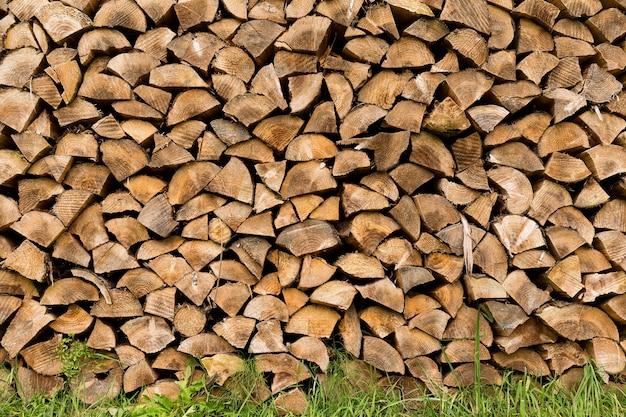 Houten hout bij buiten