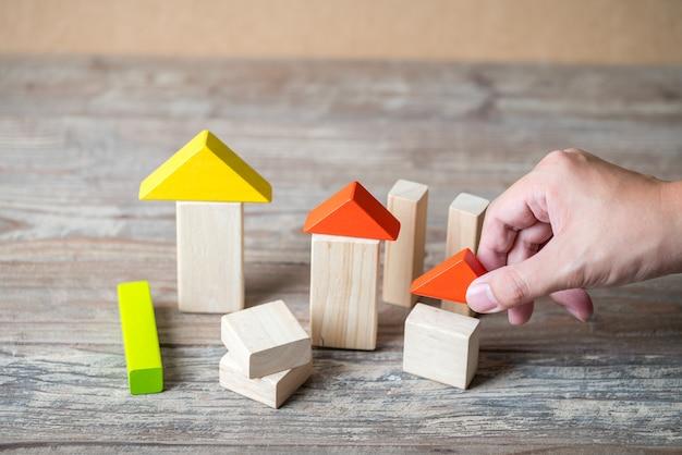 Houten huis en woonwijk