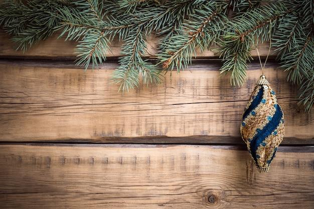 Houten kerst achtergrond. kopieer ruimte